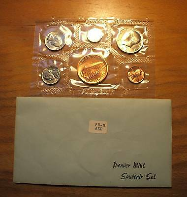 1980 Denver Mint Souvenir Set With Envelope - 5 Coin Uncirculated Set