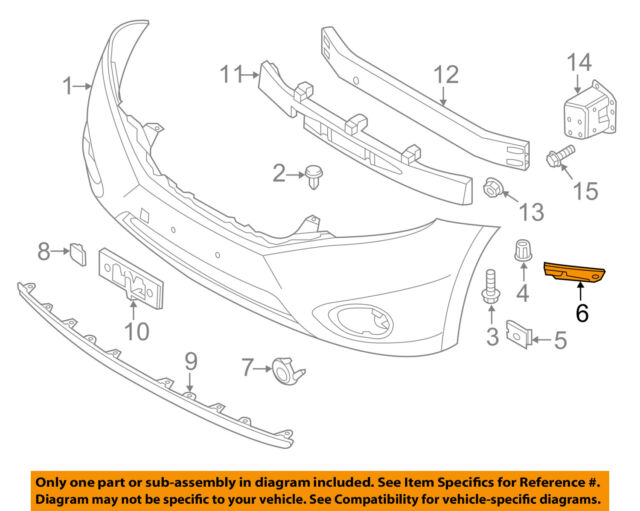 For 12-18 Tacoma Front Bumper Lower Retainer Mounting Bracket Left or Right Side