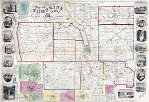 1853-Map-of-Tompkins-County-New-York-from-actual-surveys