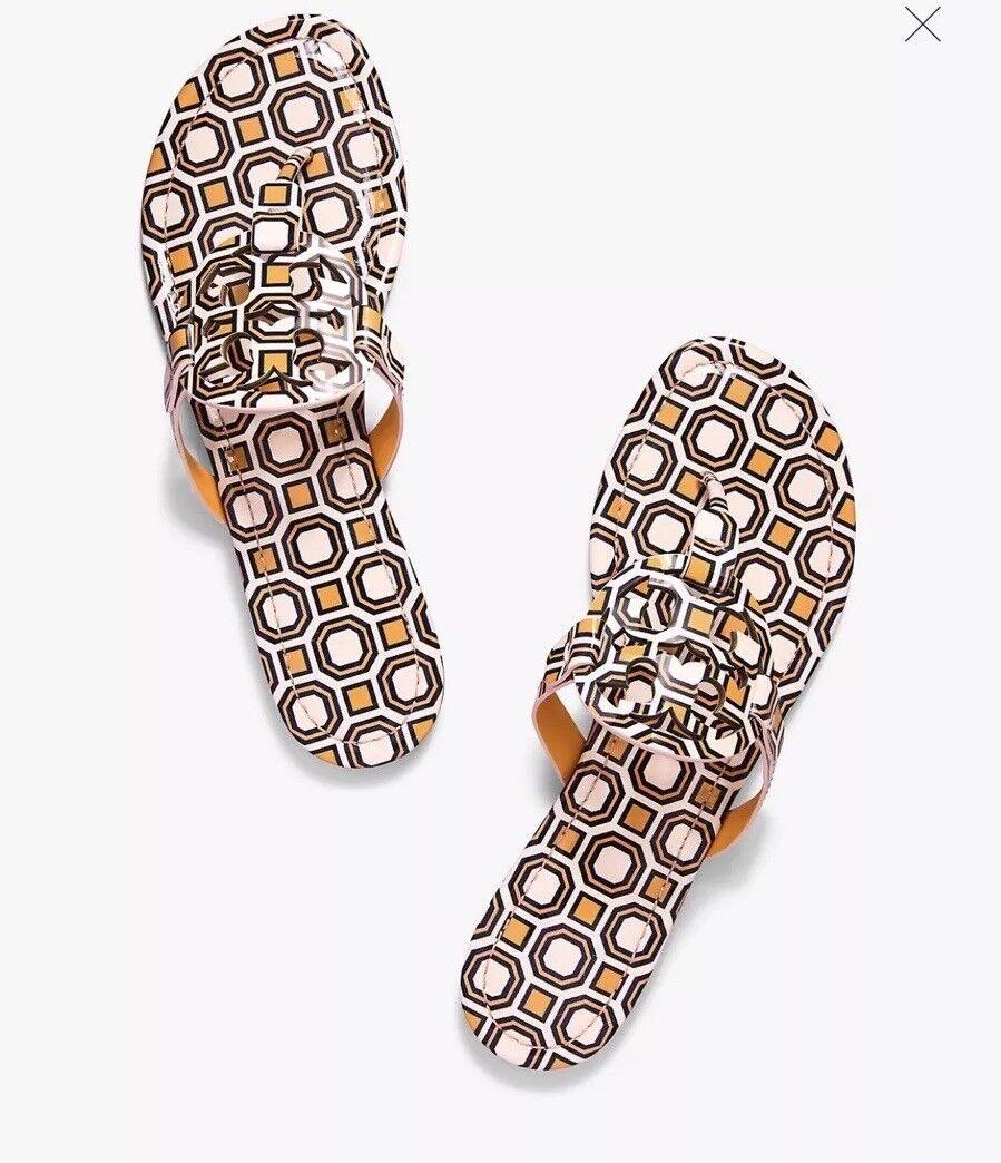 NIB Tory Burch Miller Leather Sandals Flats Slip On Ballet Pink size 8