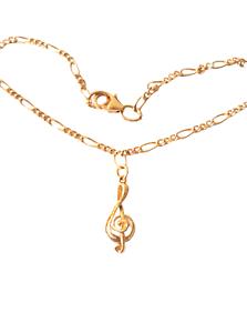 Bracelet en plaqué or - clé de sol -
