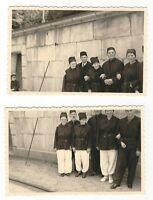 19/176  FOTO 2 x VOR DER EINFAHRT INS SALZBERGWERK BERCHTESGARDEN JAHR 1953