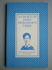 A CHOICE OF EMILY DICKINSON'S VERSE - INTRO FROM TED HUGHES - 56 PAGE PAPERBACK