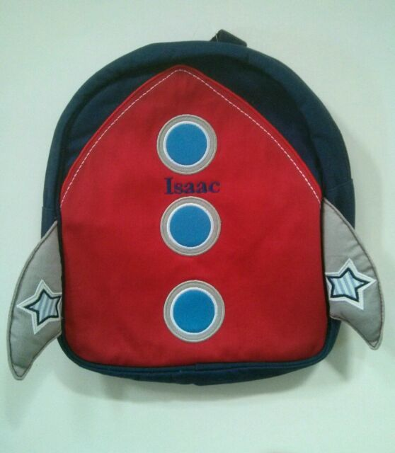 Pottery Barn Kids Preschool Mini Blue Red Rocket Backpack