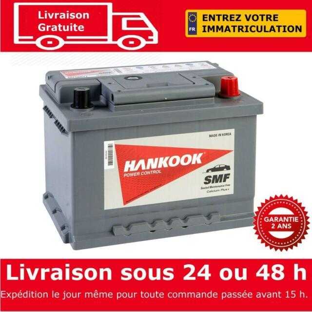 12V 60Ah Batterie de Démarrage Pour Voiture, Hankook 56077 - 242 x 174 x 175mm