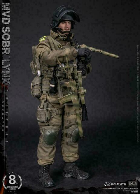 DAMTOYS 1//6 Russian MVD-SOBR Bobcat Special Forces 78059 Soldier Male Figure Toy
