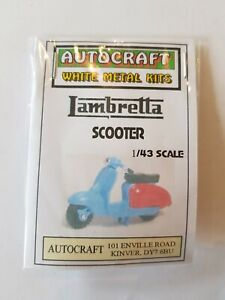 1/43 Scale 7mm O Gauge 1960s Lambretta Scooter Discontinued Metal Kit