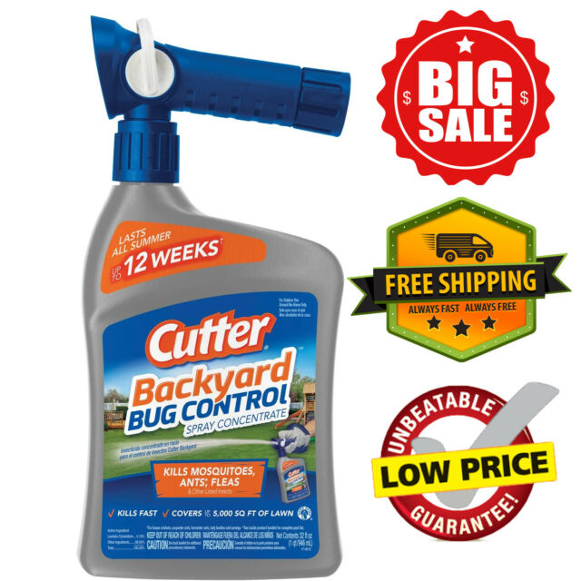 Cutter Backyard Bug Control Spray Concentrate Repels and ...