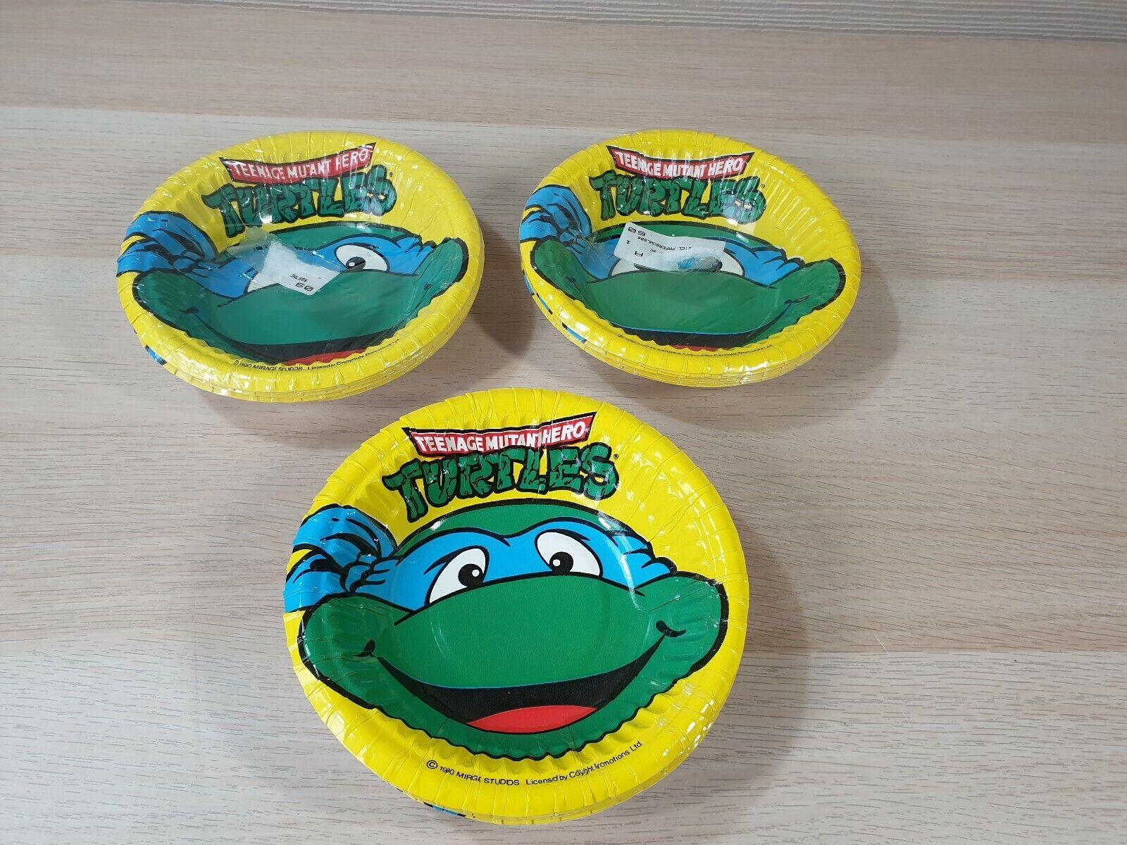 24x 24x 24x Teenage Mutant Hero Turtles Vintage Birthday Party Paper Bowls 1990 NEW RARE 409c2b