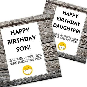 Funny Happy Birthday Card For Sondaughter From Mumdad Good Job You