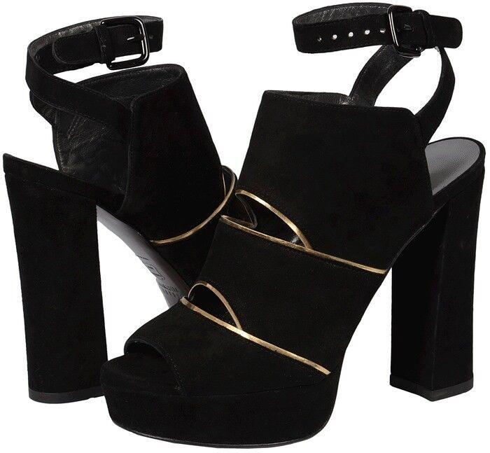 Descuento de liquidación Stuart Weitzman Slits Black Suede Platform Heels shoes - new in box