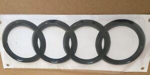 Black-Gloss-Rare-Boot-Ring-Logo-Emblem-Badge-Audi-A4-A6-Q3-Q5-Q7-216-75-mm