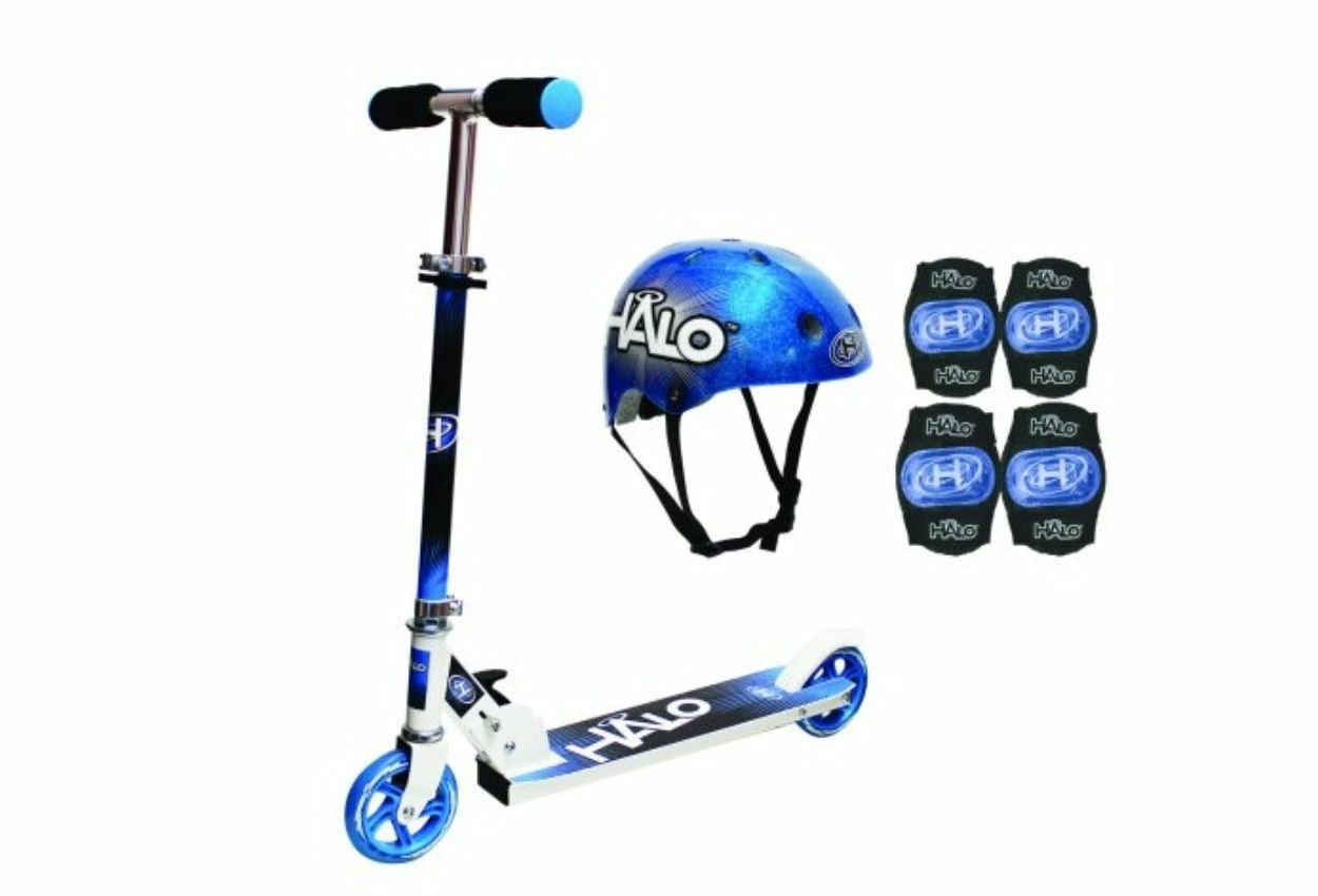 Halo Rise Above Inline Scooter Combo Set blu.