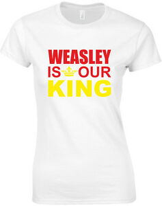 Weasley-is-our-King-Ron-Harry-Potter-inspired-Ladies-039-Printed-T-Shirt