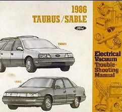 1986 mercury sable electrical wiring diagrams ewd service. Black Bedroom Furniture Sets. Home Design Ideas
