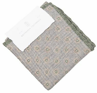 Aspirante Brunello Cucinelli, Fazzoletto Handkerchief Pochette Panno Cloth Fazzoletto Nuovo-mostra Il Titolo Originale