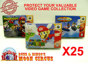 25x-NINTENDO-64-N64-CIB-GAME-BOX-CLEAR-PROTECTIVE-BOX-PROTECTOR-SLEEVE-CASE