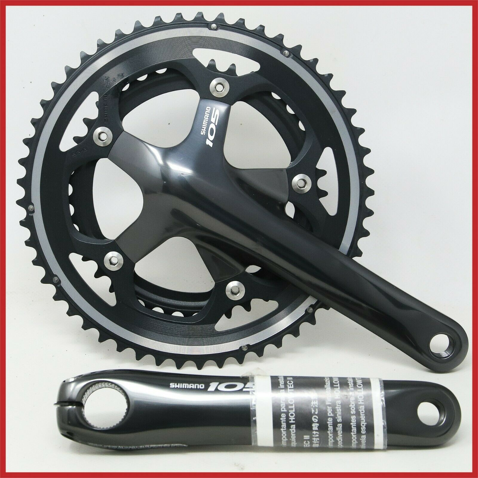 NOS SHIMANO 105 FC-5600 10S SPEED CRANKSET 175mm HOLLOWTECH II 53-39T ROAD BIKE