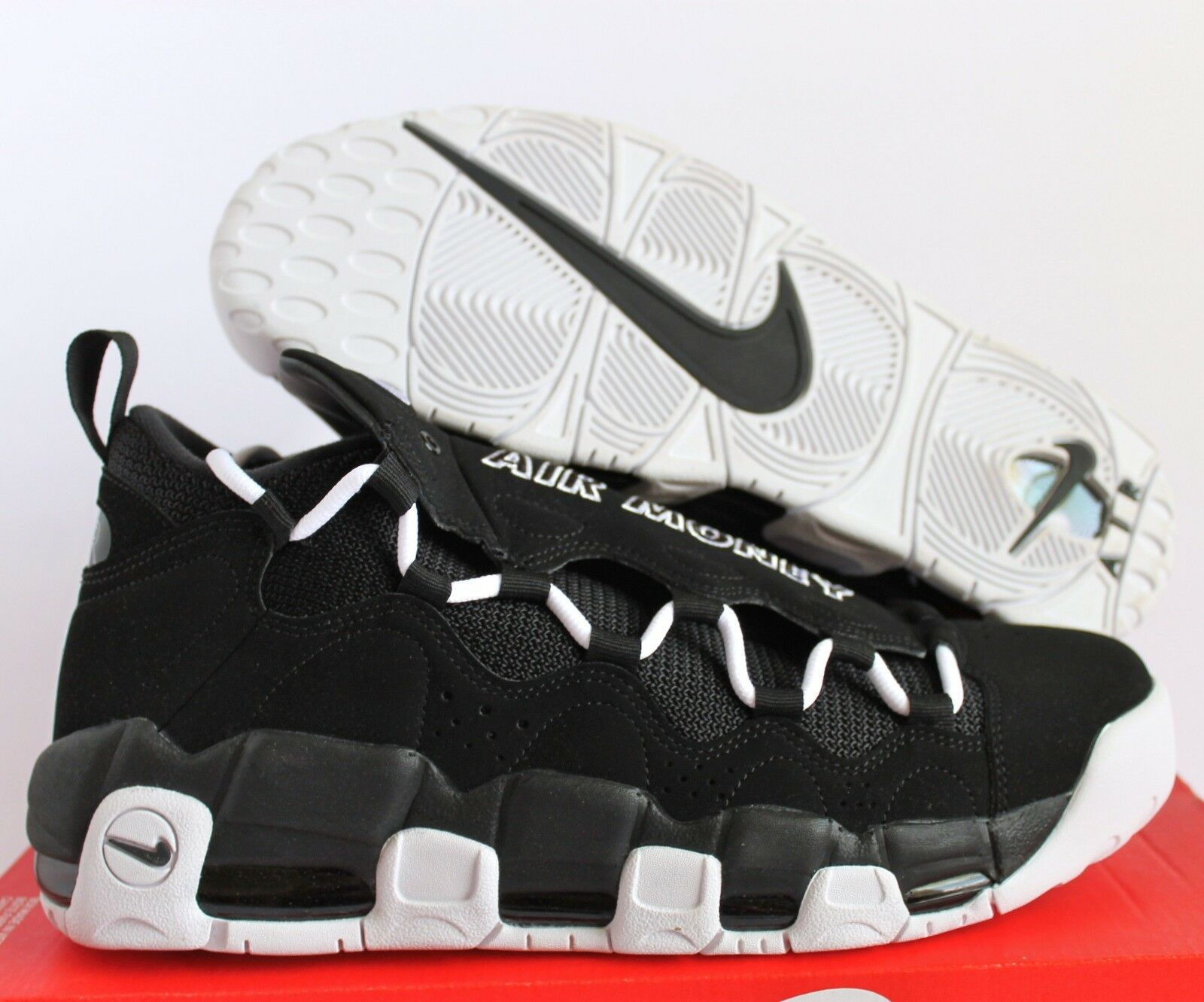Nike uomini aria piu 'soldi nero-white-nero sz 11 [aj2998-001]