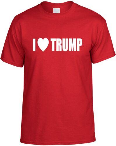 Donald Trump Presidential GOP Elect Tee Shirt Trump T-Shirt heart I Love