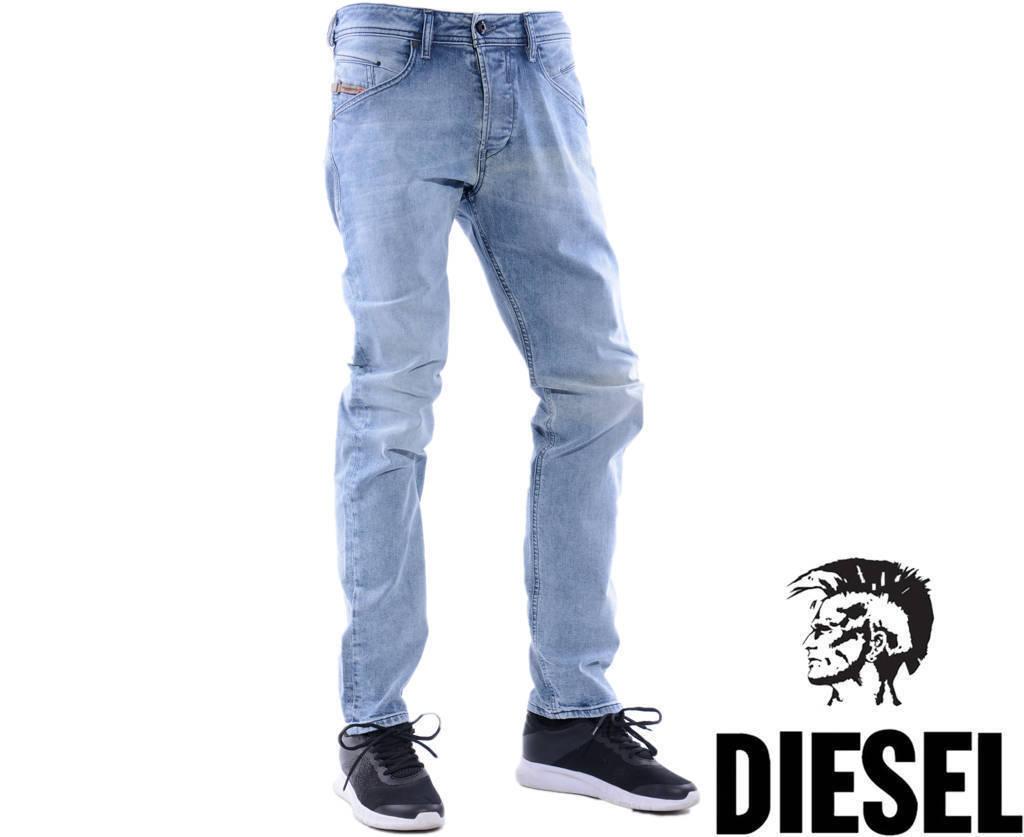 Diesel Belther 0854Y W36 L32 L32 L32 pour homme denim jeans regular slim tapeRouge  72aa7b
