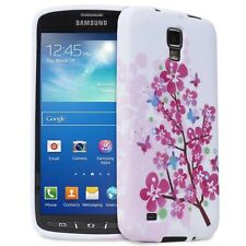 Samsung Galaxy S4 Active i537 i9295 Pink Flower Blossom TPU Gel Case Cover