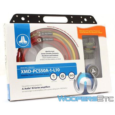 JL AUDIO XMD-PCS50A-1-L10 MARINE BOAT PREMIUM 6 AWG POWER AMPLIFIER WIRE AMP KIT