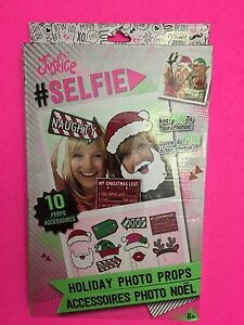 New Justice Selfie Holiday Photo Props 10 Props Christmas Themed