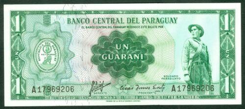 1  GUARANI  L 1952 Prefix A  P 193a   Uncirculated Banknotes PARAGUAY 1963