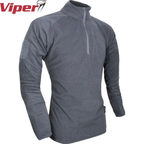 VIPER Elite Mid-Strato in Pile da Uomo S-2XL termica zip collo Pullover Top Esercito MTP