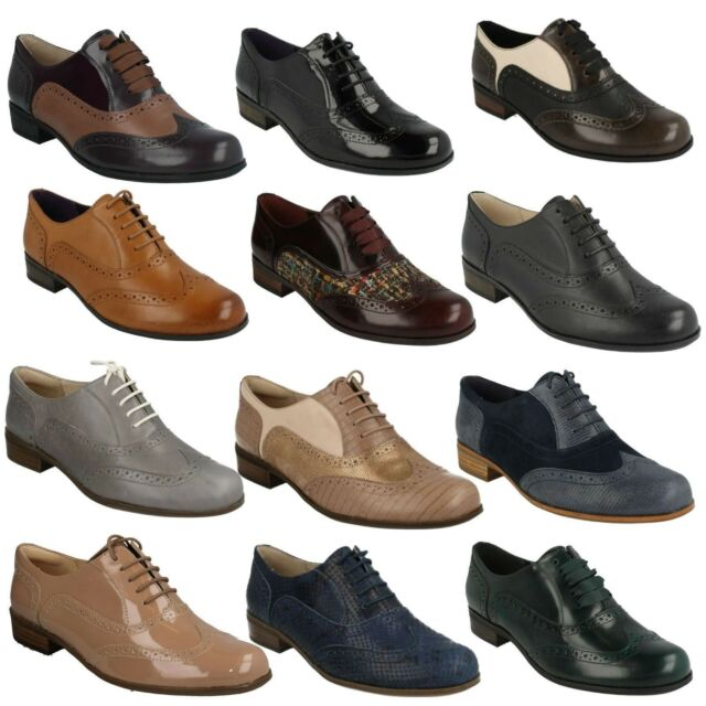 db83bf3ce8d HAMBLE OAK LADIES CLARKS LACE UP LEATHER LOW HEEL SMART FORMAL BROGUE SHOES