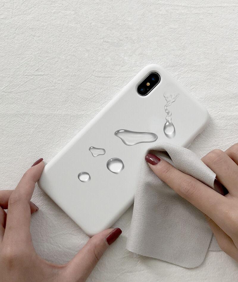 Original Coque Silicone Case Apple iPhone X XR XS MAX 8 6 7 Plus Etui Coffret 6