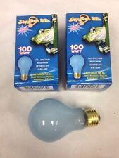 DayBrite 100W A19 Frost Neodymium Reptile Pet Full Spectrum Light Bulb 2pc