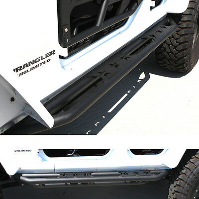 07-16 Jeep JK Wrangler 4 Door ONLY Step Armor Rock Sliders Rocker Guard Nerf Bar