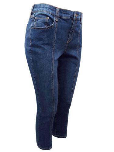 NUOVI Donna Style /& Co CAPRI DENIM cucitura frontale-RITAGLIATA Gamba Skinny Di Jeans Taglia 8-22