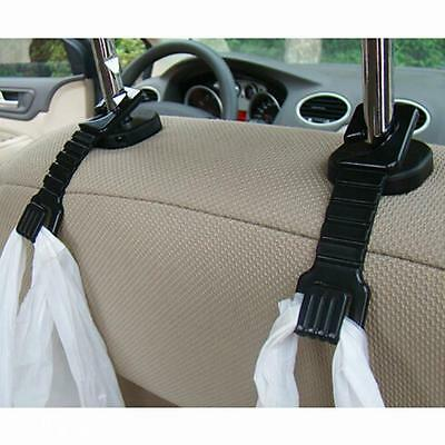 2x Portable Home Wall Car Trunk Seat Steel Sundry Bag Package Hanger Linker Hook