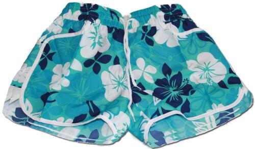 Turchese Donna Floreale Stampa Floreale Hot Pants Swim BEACH Board Shorts Estate UK