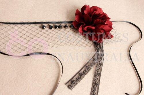 Halloween Veil Headpiece Vintage Dracula Queen Headdress Wedding Lolita Vampire