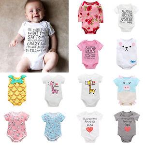 03bd94096 Newborn Infant Baby Boy Girl Kids Cotton Romper Jumpsuit Bodysuit ...
