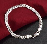 Edles Design 925 Sterling Silber Armband Armkette Panzerkette Hochglanz Neu,