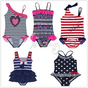 38a7d6c395 Image is loading Baby-Girls-Kids-Bikinis-Set-Striped-Swimmers-Bathers-