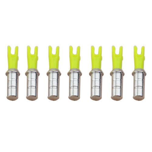 50pcs Bogenschießen Pfeil Nocken Mit Aluminum Schutznageln ID4,2//6,0//6,2mm Pfeil