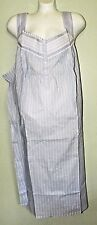 Croft Barrow Sleeveless Cotton Nightgown 4x Blue Pinstripe