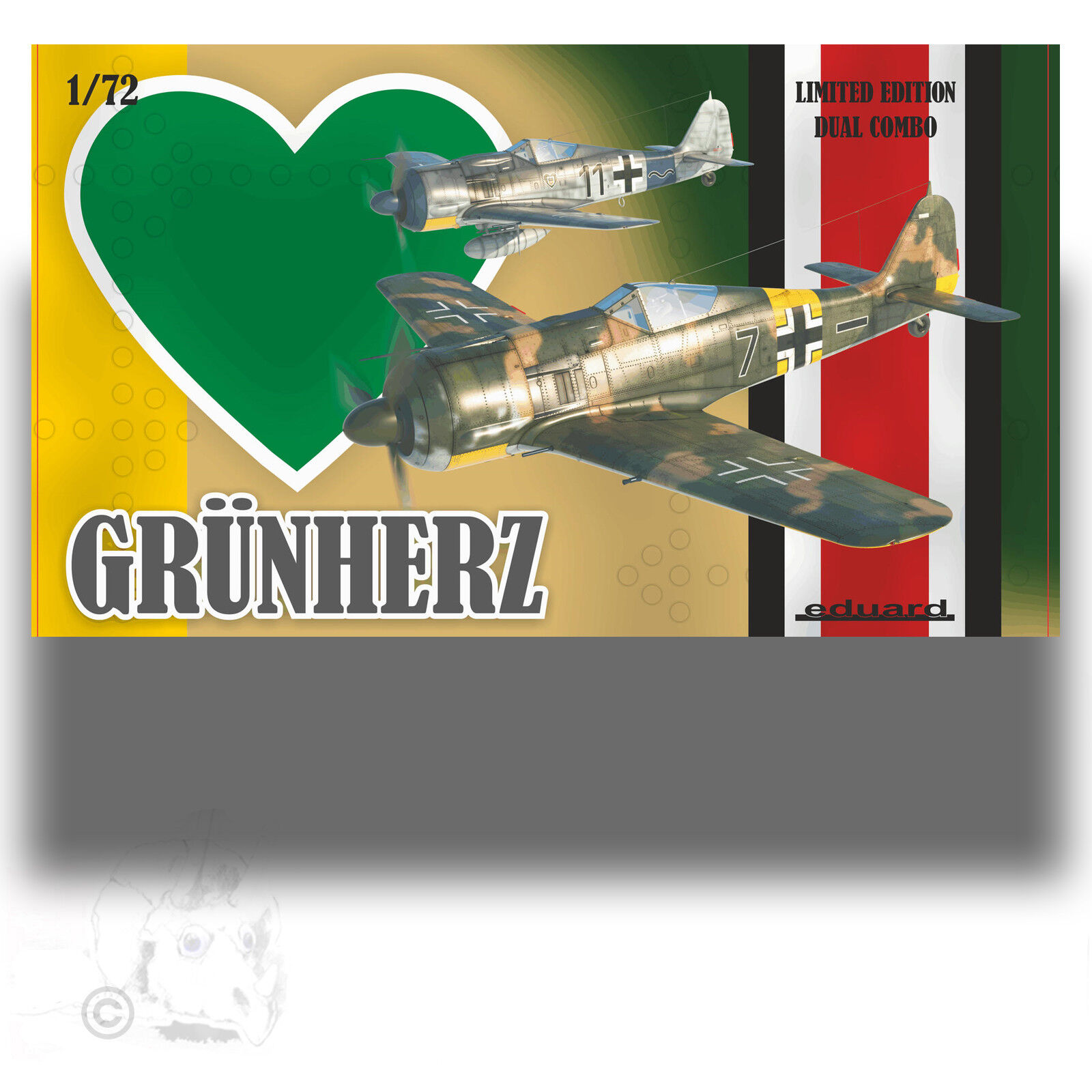EDUARD 1 72 GRUNHERZ DUAL COMBO FW-190'S LIMITED EDITION KIT 2122