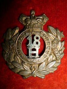 Cavalry-18th-Hussars-QVC-Cap-Badge-Victorian-KK-783-Genuine
