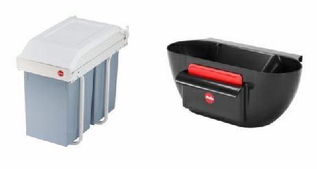 Hailo Multi-Box Einbauabfalleimer - mit Küchenabfallschalle 2 x 15 l