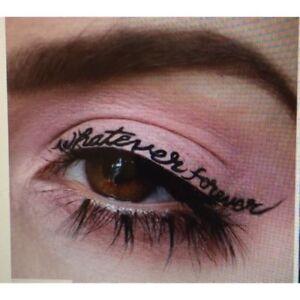 Temporary Tattoo Eyeliner Words Black Eye Liner Makeup Tattoo