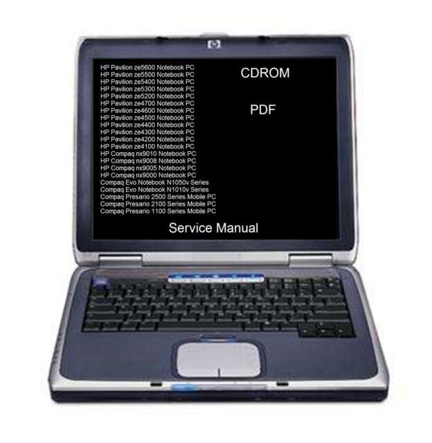 HP Pavilion 5500 Service Manual * ZE5600 * ZE4600 * NX9101 * N1050V *  DVD * PDF