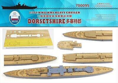 Shipyard 1//700 700095 Wood Deck HMS Heavy Cruiser Dorsetshire for Aoshima