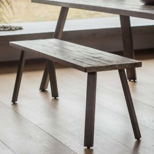 Outstanding Details About Frank Hudson Gallery Direct Camden Dining Bench Rustic Machost Co Dining Chair Design Ideas Machostcouk
